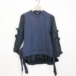 Zara Woman Ruffle Sleeve Sweater
